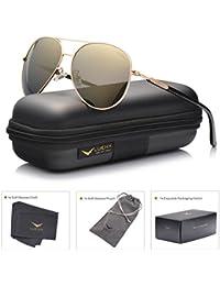 Aviator Sunglasses Womens Polarized Mirror with Case - UV...