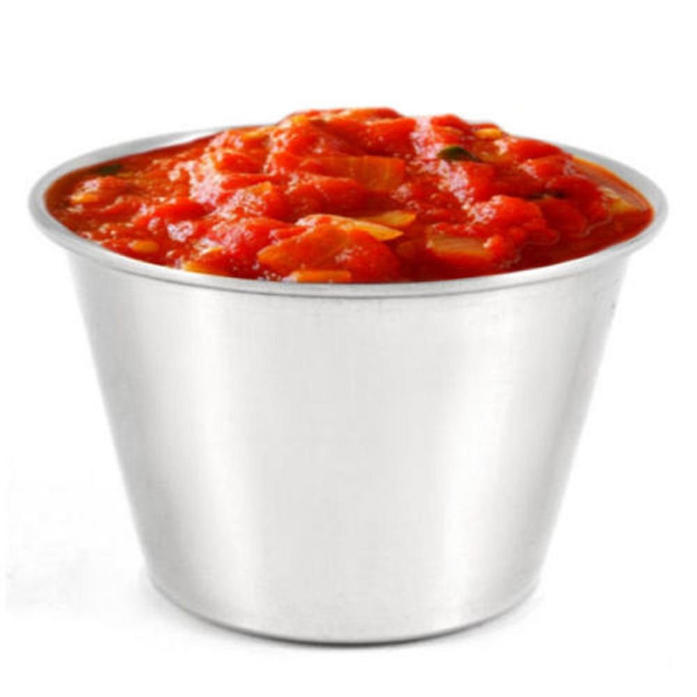 Stainless Steel Ramekin 2.5oz Pack of 24 - Sauce Dip Pots, Condiment Bowls, Metal Souffles Dish for Sides & Deserts BarBits Ltd