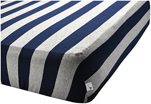Burt's Bees Baby Bold Stripe Organic Fitted Crib Sheet, Blueberry by Burt's Bees Baby