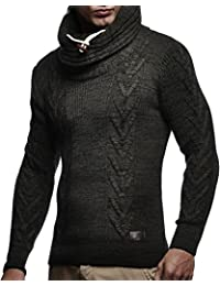 Men's Knitted Pullover Sweater Hoodie Jacket Long Sleeve Slim fit