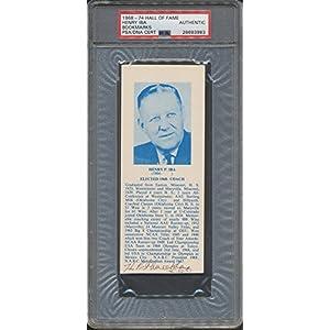 1968 74 Hof Bookmarks Henry Iba PSA/DNA Certified Certified Certified Autographed *3983