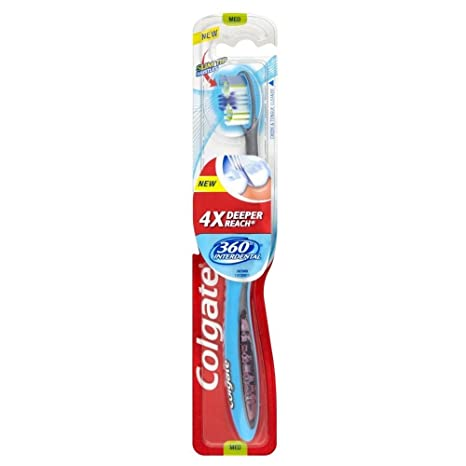 Colgate 360 Cepillo De Dientes Manual Interdental (Paquete de 2)