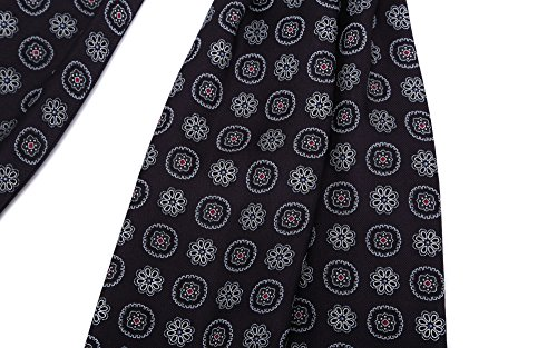 100 Black Prettystern ply twill pattern silk color cravat Men's paisley choice silk ascot Tie scarf two and qSYqxag