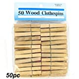 50 Pc Wood Cloths Pins (Pack Of 48)