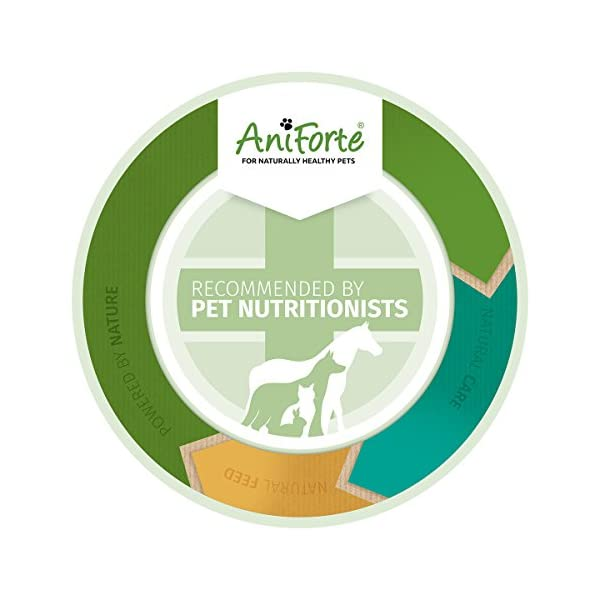 AniForte Premium Feeding Oil 1L: Hemp, Salmon & Flax-seed Oil for Dogs to Boost Immunity & Health, Barf and Raw Feeding Supplement