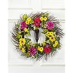 Petals-Zinnia-Daisy-Silk-Flower-Wreath-Handcrafted-Bright-Fresh-Colors-24-x-24-x-4-Inches
