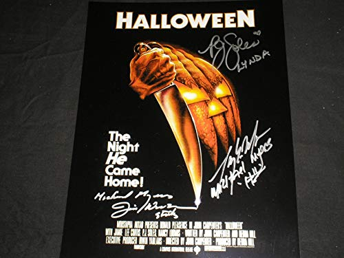 HALLOWEEN 3X Cast Signed 10x13 Photo PJ Soles Jim Winburn Tony Moran Autograph]()