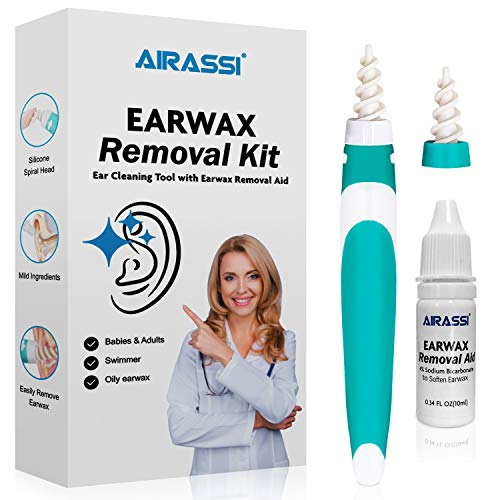 Earwax Removal Kit – Earwax Removal Aid & Earwax Cleaning Tool, Safe and Effective Earwax Removal System for Baby and…