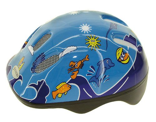 Ventura Children's Cycling Helmet, 48-52 cm, Sea World - World Ride Sea