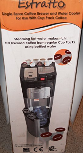 Estratto Single Cup Coffee Maker & Stainless Water Cooler - Coffee Pigs