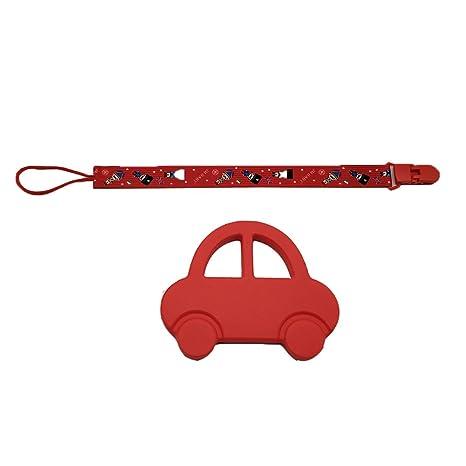 Mordedor de silicona INCHANT roja del coche del juguete con Chupete ...