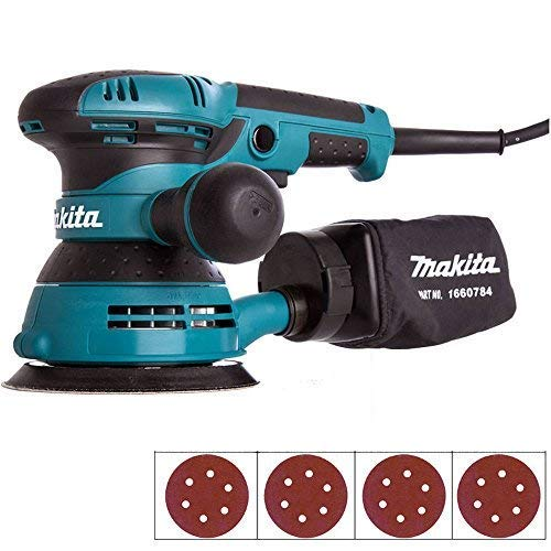 Makita BO5041 125mm 5' Random Orbital Sander 110V with 40 Extra Sanding Pads