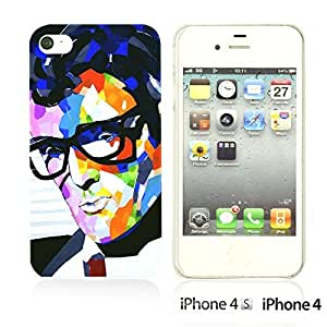 OnlineBestDigitalTM - Celebrity Star Hard Back Case for Apple iPhone 4S / Apple iPhone 4 - Buddy Holly