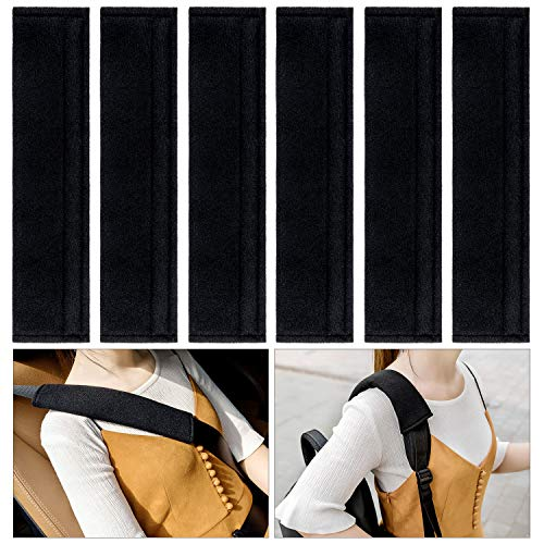 Belt Covers Car Seat (6PCS Car Seat Belt Covers Soft Faux Sheepskin Shoulder Strap Pad for Adults (Black))