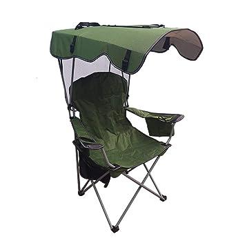Sombrilla al Aire Libre Silla Plegable portátil Ocio Guía de Playa Silla del Actor Volver Silla de Pesca Salvaje Taburete de Camping Carga máxima 150 kg: ...