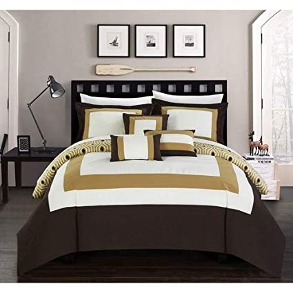 Chic Home Jake 40 Piece Comforter Set Reversible Hotel Collection Color Block Geometric Pattern Print Design Bed In A Bag Bedding Sheets Delectable Luxurious Bedroom Minimalist Collection