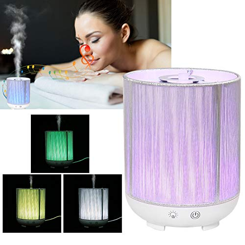 - Cool Mist Aromatherapy, Bluetooth Music Colorful 130ml Air Mist Essanrial Oil Humidifier Night Lights with Automatic Shut-off Function for Home Room Office