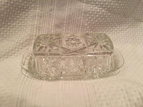 Vintage Anchor Hocking EAPC Star of David Butter Dish