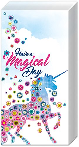 Have a Magical Day Unicorn Starbursts 10 Count 4-Ply Pocket Facial Tissues, 3 Pack