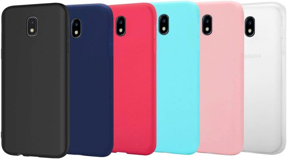 Funnytech/® Funda Silicona para Samsung Galaxy J5 2017 Geometrico Colores Vers.4 Gel Silicona Flexible, Dise/ño Exclusivo