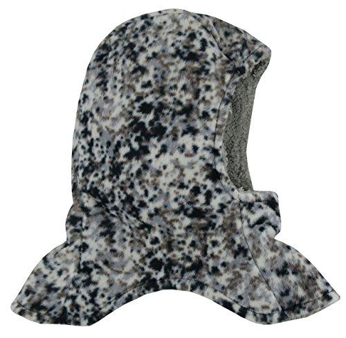 N'Ice Caps Kids Unisex Sherpa Lined Micro Fleece Balaclava Crusader (2-3yrs, Black Camo Print) (Micro Balaclava)