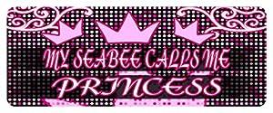 MY SEABEE CALLS ME PRINCESS Princess Car Laptop Wall Sticker from Makoroni