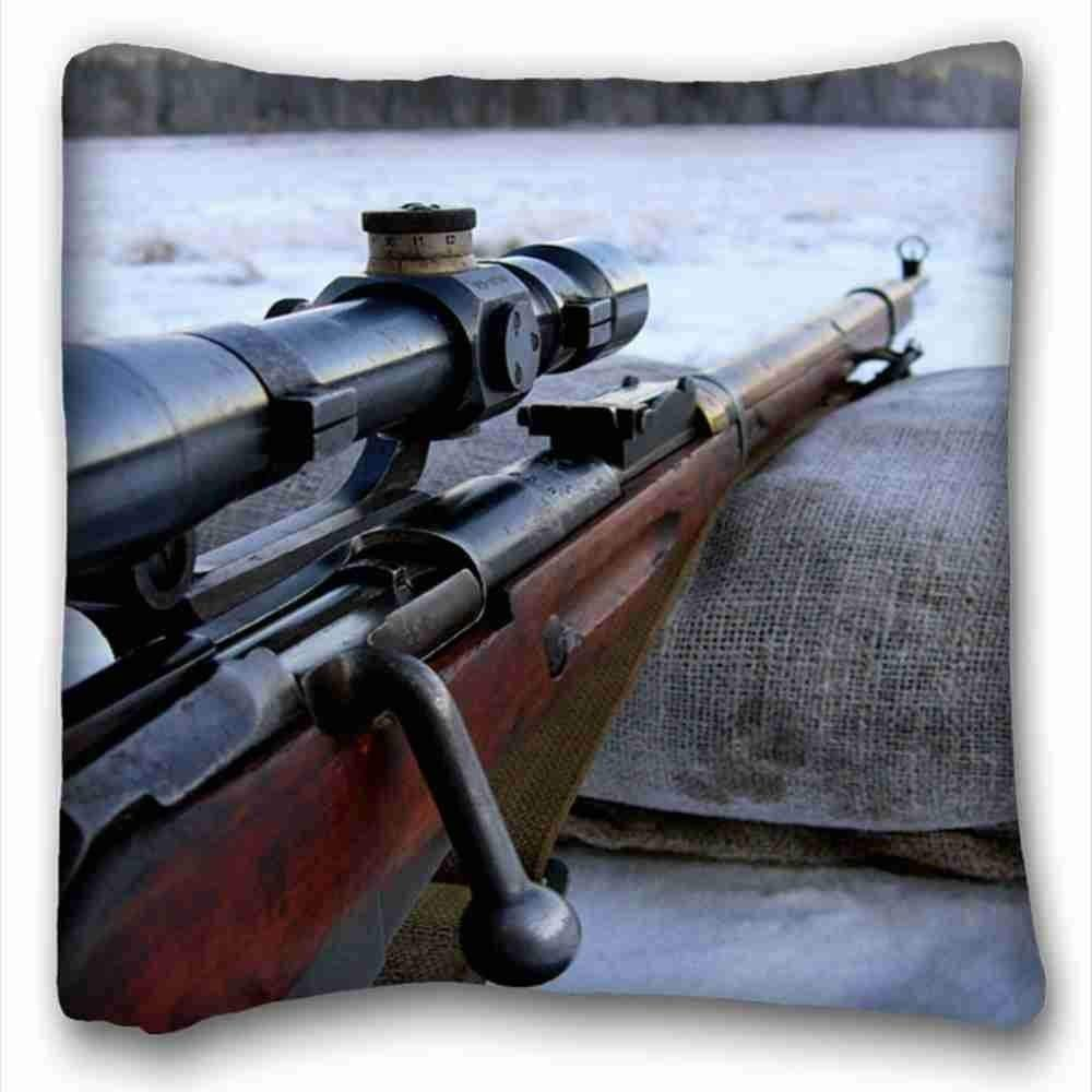 Personalized (Nature Snow Rifle Winter Snow Guns Weapons Sniper Rifle mosin Nagant Nature Snow) Popular 18x18 Inches Two Side Pizza Rectangle Pillowcase Suitable: Amazon.es: Hogar