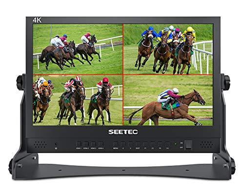 SEETEC ATEM156 15,6 Inch Live Streaming Director Monitor met 4 HDMI-ingangsuitgang Quad Split Display voor ATEM Mini…