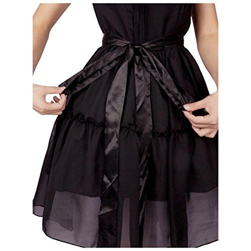 Frauen Partiss Rock Klassisch Kleid Schwarz Ruffle Plissee Damen Suess Lace 7xqUv6COw