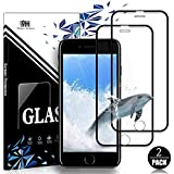 EESHELL for iPhone 8 Plus/7 Plus/6S Plus/6 Plus Screen Protector, [2 Pack] 9H Hardness Premium HD Clarity Full Coverage Tempered Glass, Case Friendly, Anti-Bubble Film for iPhone 8P/7P/6SP/6P-Black