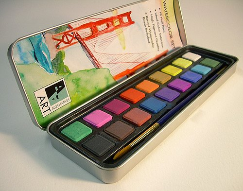 Finetec M Artist Mica Watercolor Paint Metallic Gold  Color Set