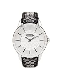 Coach Women's 14501524 Silver Leather Quartz Watch