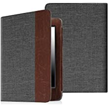 """Fintie Folio Case for Kindle Paperwhite - The Book Style Fabric Cover with Auto Sleep/Wake for All-New Amazon Kindle Paperwhite (Fits All Versions with 6"""" Display and Built-in Light), Denim Charcoal"""