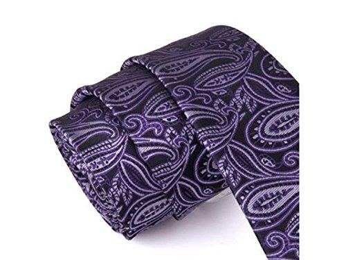 and Fashion Kxrzu Casual Fashionable Occasion Jacquard Daily Purple Necktie Casual Formal W00qBCF5n