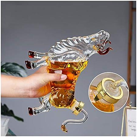 ZSWB Estilo en Forma de Vaca Home Bar Whisky Decanter para Licor escocés Botella de Vino Botella 250ml-1500ml 210423 (Color : Dark Gray)