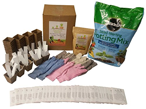 heirloom-seeds-vegetable-garden-ultimate-starter-or-survival-kit-with-potting-soil-jiffy-pots-gloves
