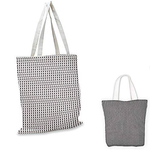 - book tote Geometric Herringbone Zigzags Stacked Cubes Pattern Greyscale Illustration Black Grey and Pale Grey travel tote bag