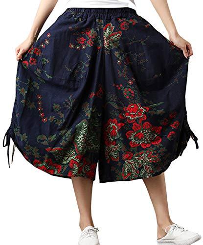 de3b8b5ceb3d0 à avec pour Bloomers Pantalon imprimé Hippie Pantalon Sarouel Style Floral  Boho Motif Amplaue à Femme ...