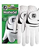 New 2017 FootJoy WeatherSof Mens Golf Gloves (2 Pack) (Medium Large, Worn on Left Hand)