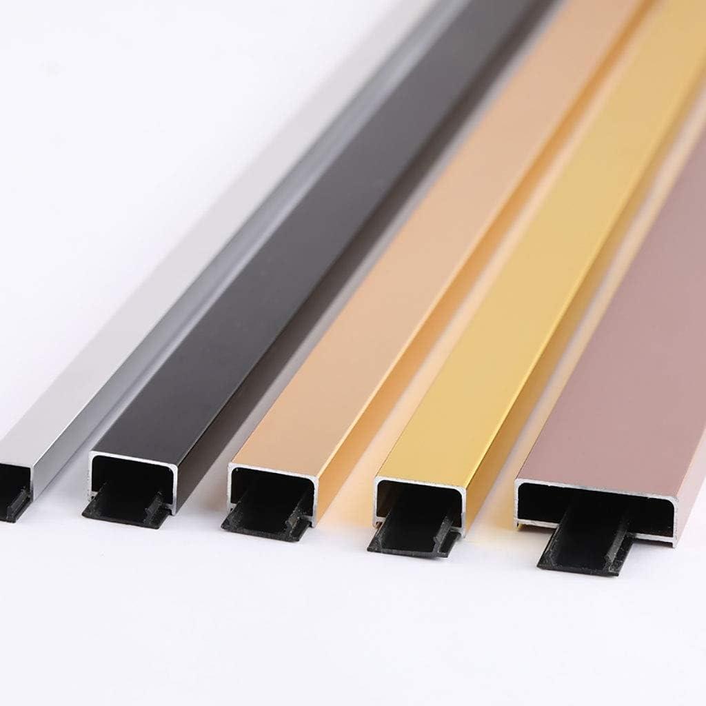GWXFHT Building Products U Type Waterproof Decorative Strip Aluminum Alloy Threshold Strip Floor Edge Strip Doorway Blanking Strip W35/×H12/×L1000MM Color : A