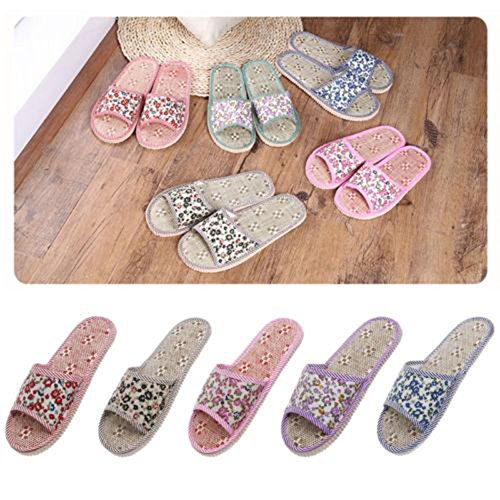 Heel Toe Slipper Home Pink Slippers Floral Open Women's Indoor Summer Flat good01 xqw0fXAzpn
