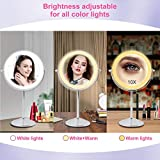 Rechargeable Lighted Makeup Mirror, 8 Inch Double