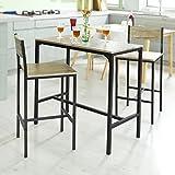 Haotian Bistro Set,Home Kitchen Outdoor Garden Bar Set,Patio Furniture, Dining Set, OGT03