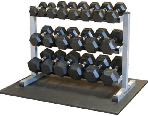 Body-Solid Rubber Hex Dumbbell Set
