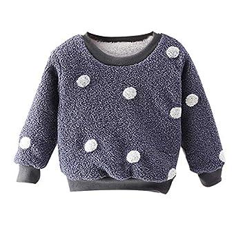 Sudadera Pullover de Felpa Gruesa para beb/é ni/ña Ropa de Invierno c/álido su/éter Jersey