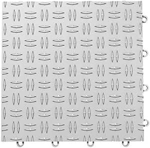 "GarageTrac® 12'' X 12"" Interlocking Garage Floor Tile : Alloy"