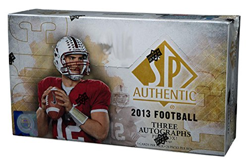 (2013 Upper Deck SP Authentic Football Hobby Box - 24 packs - 3 Autos Box)