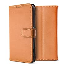 """BELK Sony Xperia XA Ultra Case, Retro Vintage Leather Wallet Case for Sony XA Ultra - 6"""" Display, Classical Manetical Snap Folio Flip Card Cover for Sony XA Ultra, Buff"""