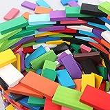 360 Pcs Super Domino Blocks Set Colorful Wooden Dominoes Set Christmas Birthday Gifts