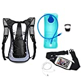 bronze cooler valve - Running Hydration Backpack with Bladder, Running Belt and Safety Strobe Light - Best Gift for Runners Men and Women - Starter Kit Includes Black Hydration Pack with Pockets, 2L BPA Free Bladder